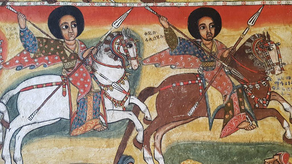 Peinture dans l'église Narga Sélassié, Lac Tana
