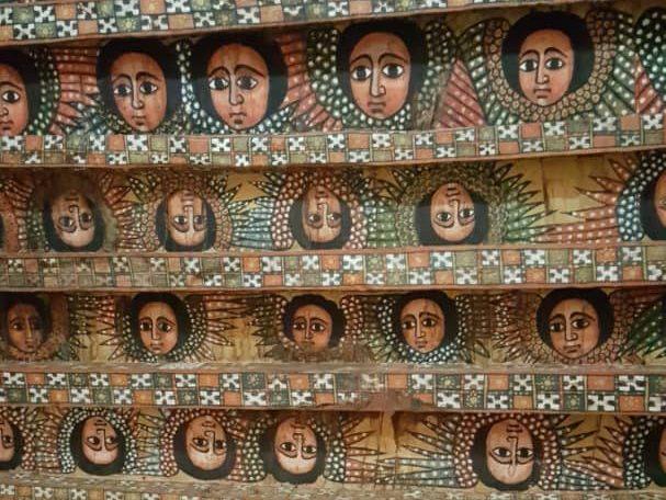 Tête d'anges, Eglise de la Trinité, Gondar
