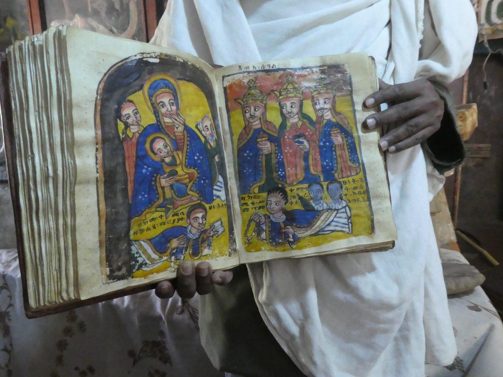Le livre de prière en parchemin, Yeha