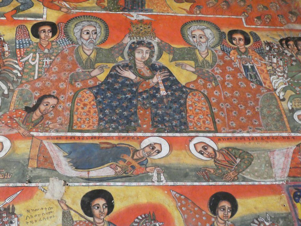 Peinture de l'église Narga Sélassié, Lac Tana