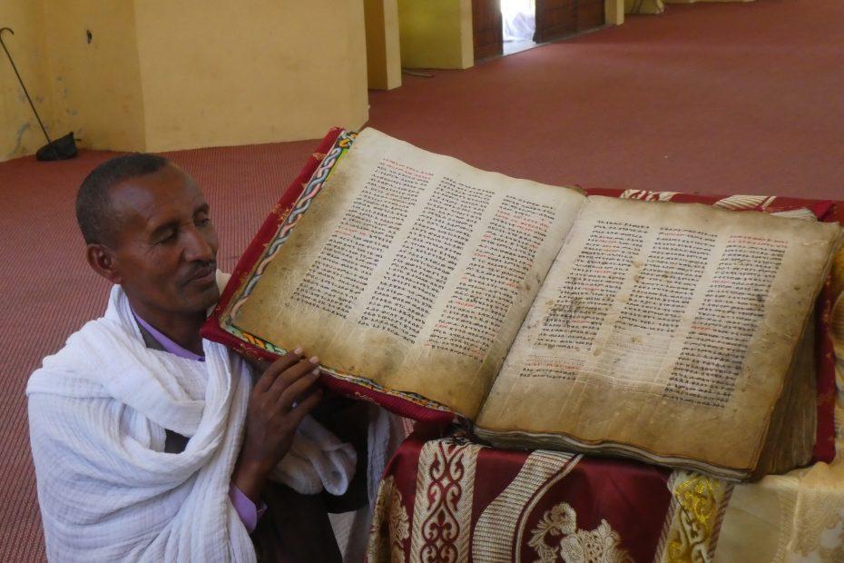 Ancienne Bible à Axoum