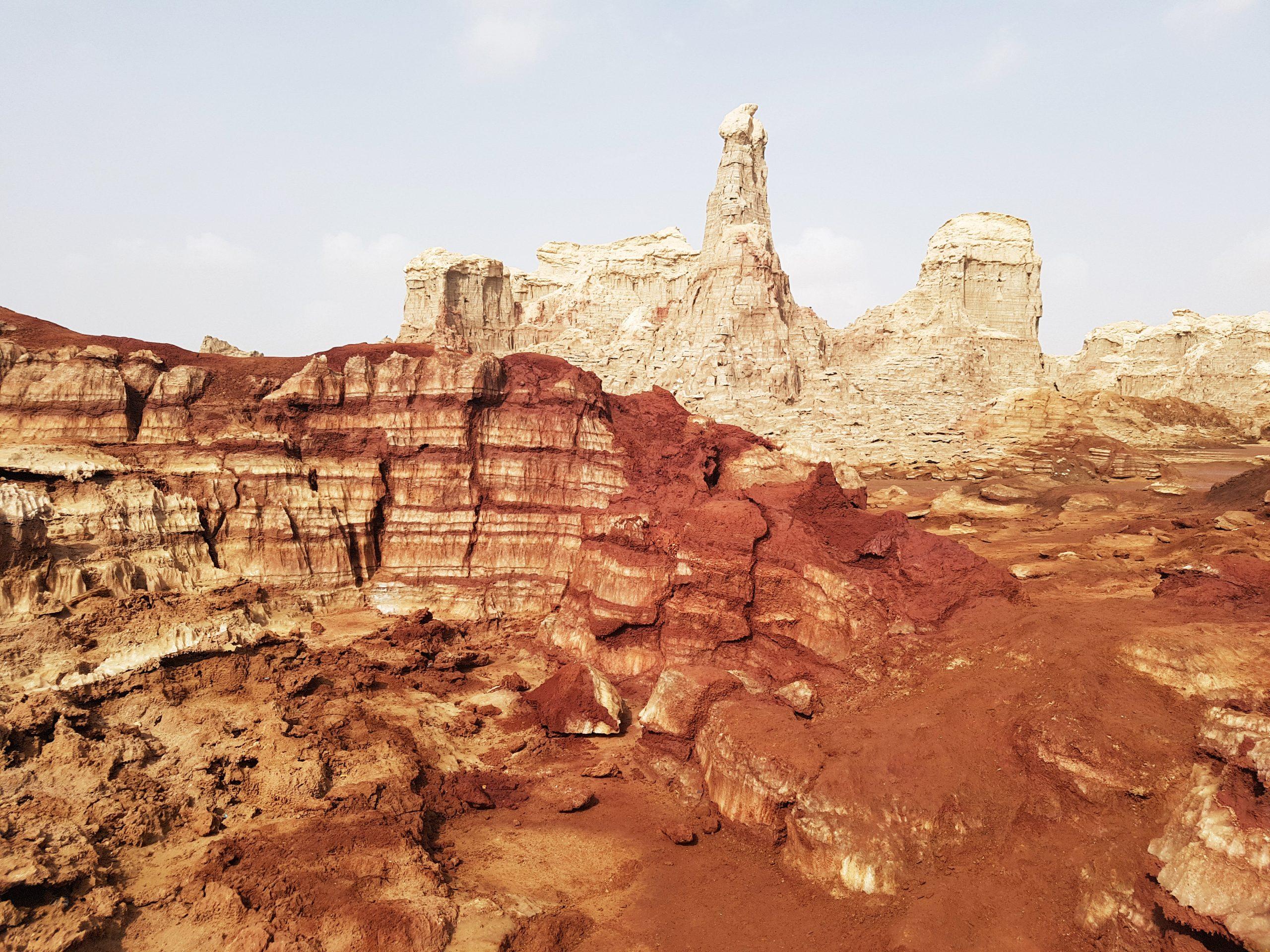 Montagne de sel à Dallol