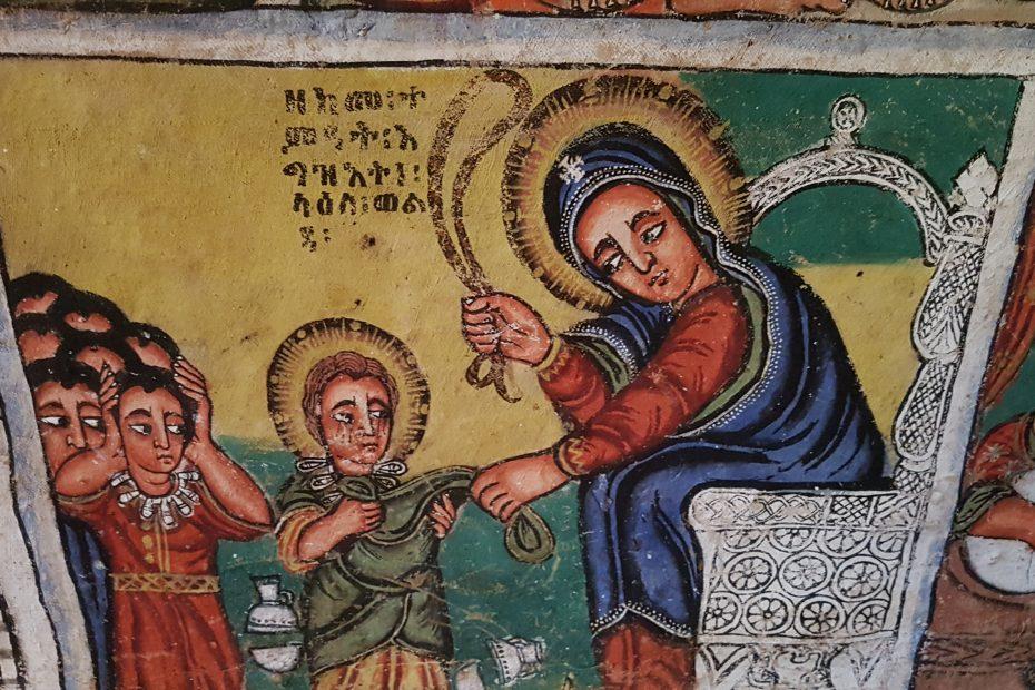 Peinture du 16ème siècle au lac Tana