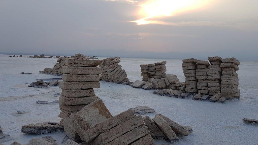 Dallol, le lac de sel